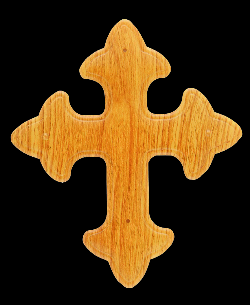 Flat Gothic Cross Wood Effect