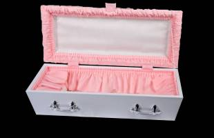 Pink Pleated Infant Casket