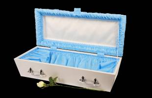 Blue Pleated Infant Casket