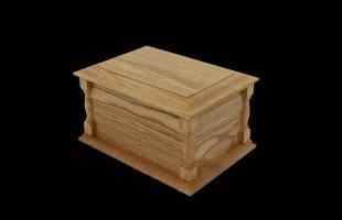 Pillared Ash Casket