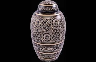Black Engraved Urn