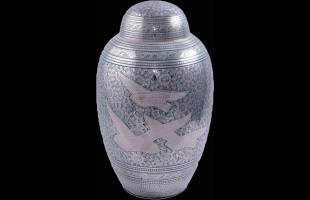 Doves in Flight Urn Dome Top