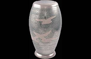 Doves In Flight Urn Flat Top