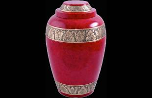Red Alloy Urn