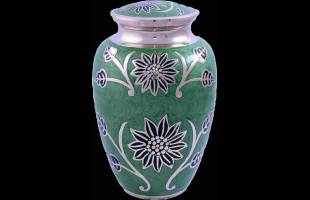Light Green Leaf Urn