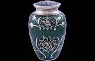 Dark Green Leaf Adult Urn