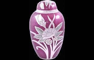 Purple Flower Urn