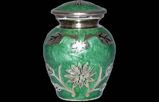 Green Leaf Keepsake Urn
