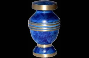 Blue Ring Keepsake Urn