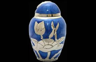 Blue Flower Keepsake Urn