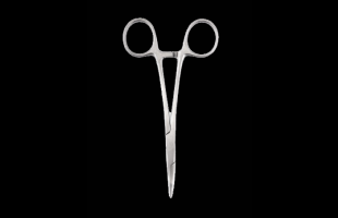 Halsteads Fine Curved Forceps 180mm