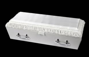 White Pleated Infant Casket