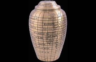 Gold Atlas Urn