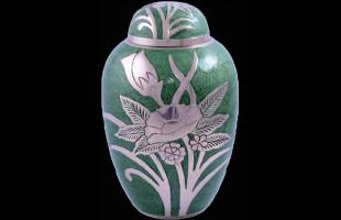 Green Flower Keepsake Urn